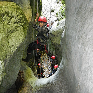 initiation au canyoning dans le Vercors